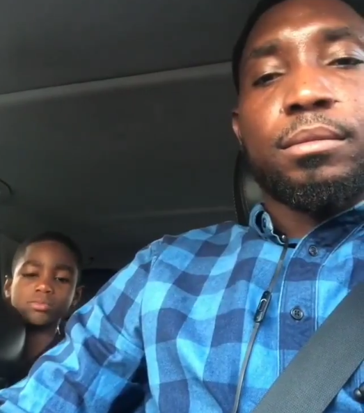 Watch hilarious video of Timi Dakolo and his 8-year-old son arguing over a Laptop