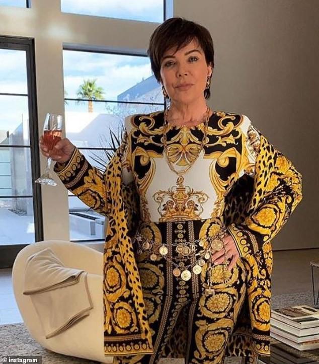 Kris Jenner rocks $8K Versace ensemble for Thanksgiving dinner in Palm Springs (Photos)