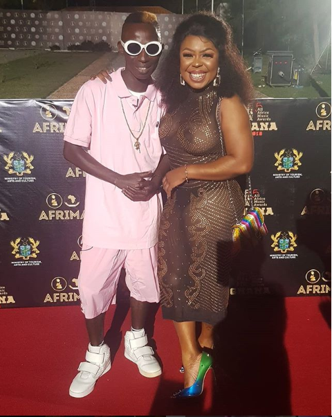 ?Afia Schwarzenegger exposes her boobs and underwear in revealing outfit as she attends Afrima Awards