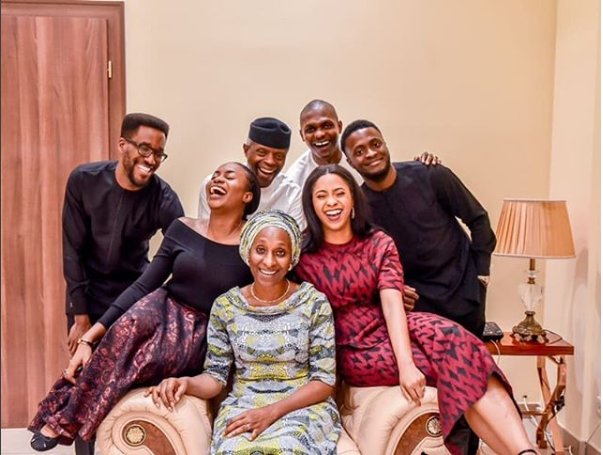 Vice President Yemi Osinbajo and his wife Dolapo celebrate 29th wedding anniversary with adorable family photo