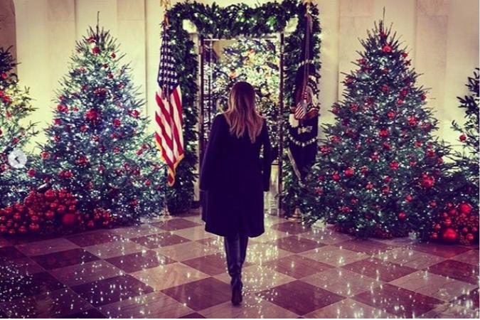 Melania Trump has unveiled the 2018 White House Christmas Decorations (Photos/Video)
