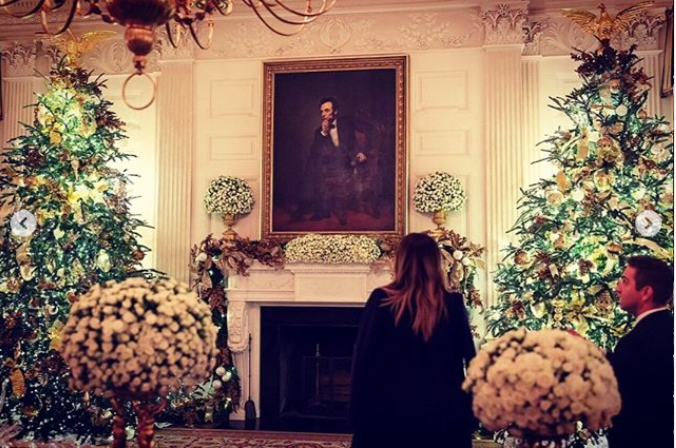 Melania Trump has unveiled the 2018 White House Christmas Decorations (Photos/Video)