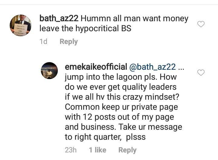 Emeka Ike slams multiple followers who reacted to his political campaign posts on social media