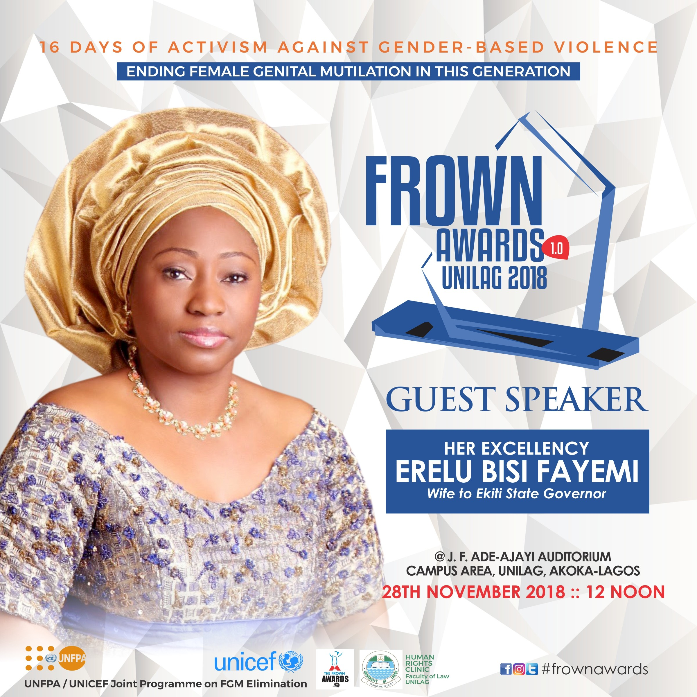 UNICEF Frown Awards: Human Rights Clinic (Faculty of Law, UNILAG) hosts the maiden edition