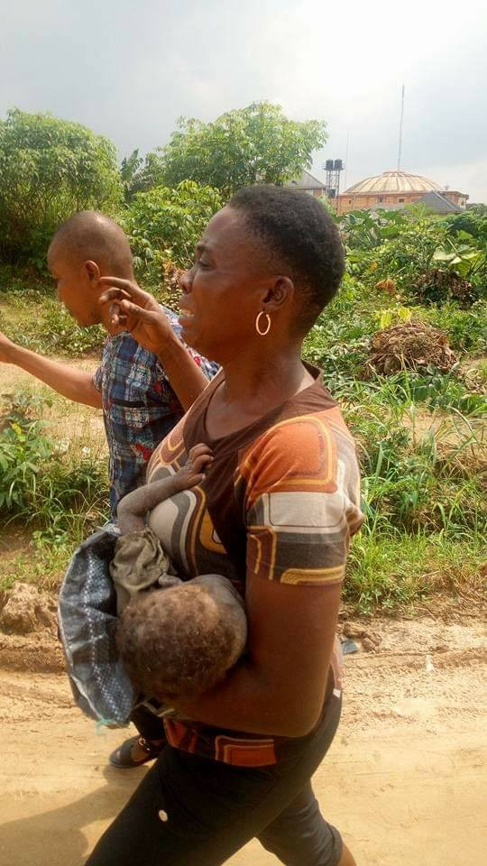 Photos: Little girl survives after being tied in a cement bag for a week by suspected female kidnapper