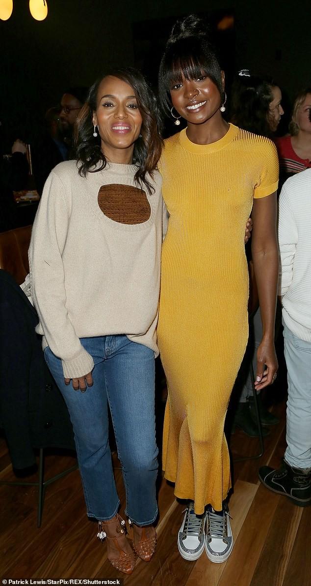 Kerry Washington makes a rare public appearance with her husband Nnamdi Asomugha in NYC (Photos)