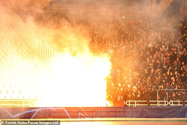 Watch the moment Petrol bomb exploded in AEK