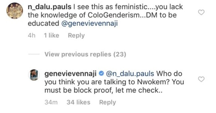 Genevieve replies man who told her she needs an education after she wrote about sexual harassment