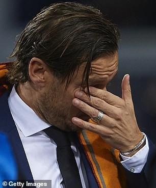 Football legend Francesco Totti breaks down in tears as he