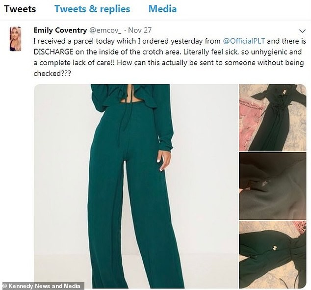 Lady left shocked after she bought new jumpsuit online and it was delivered with