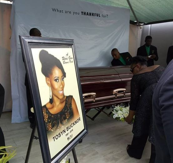 Photo: Tosyn Bucknor has been laid to rest!