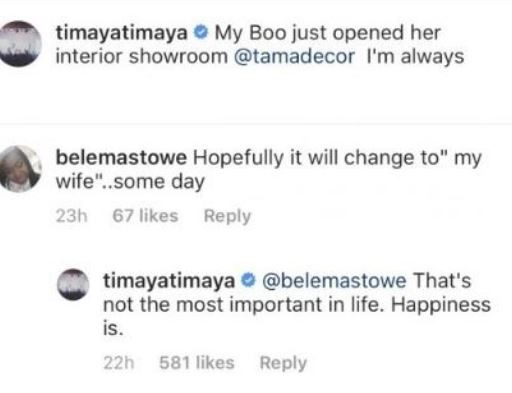 Timaya replies fan who questioned him about getting married to his 2nd babymama