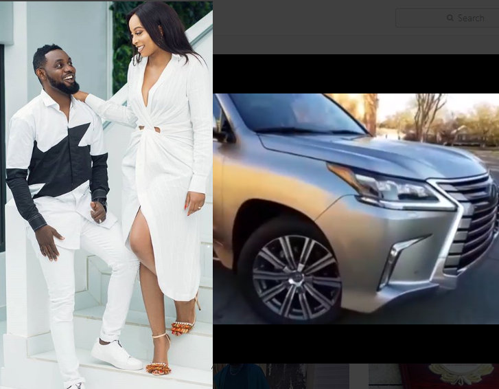 Comedian AY buys his wife Mabel a brand new Lexus Luxury SUV as wedding anniversary gift (Video)
