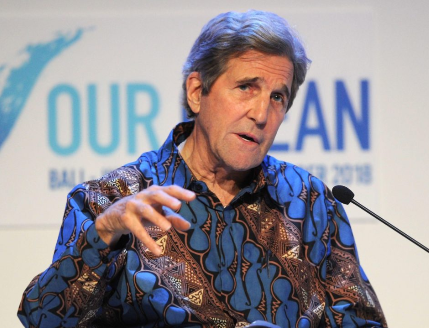 Former U.S secretary of state John Kerry says he