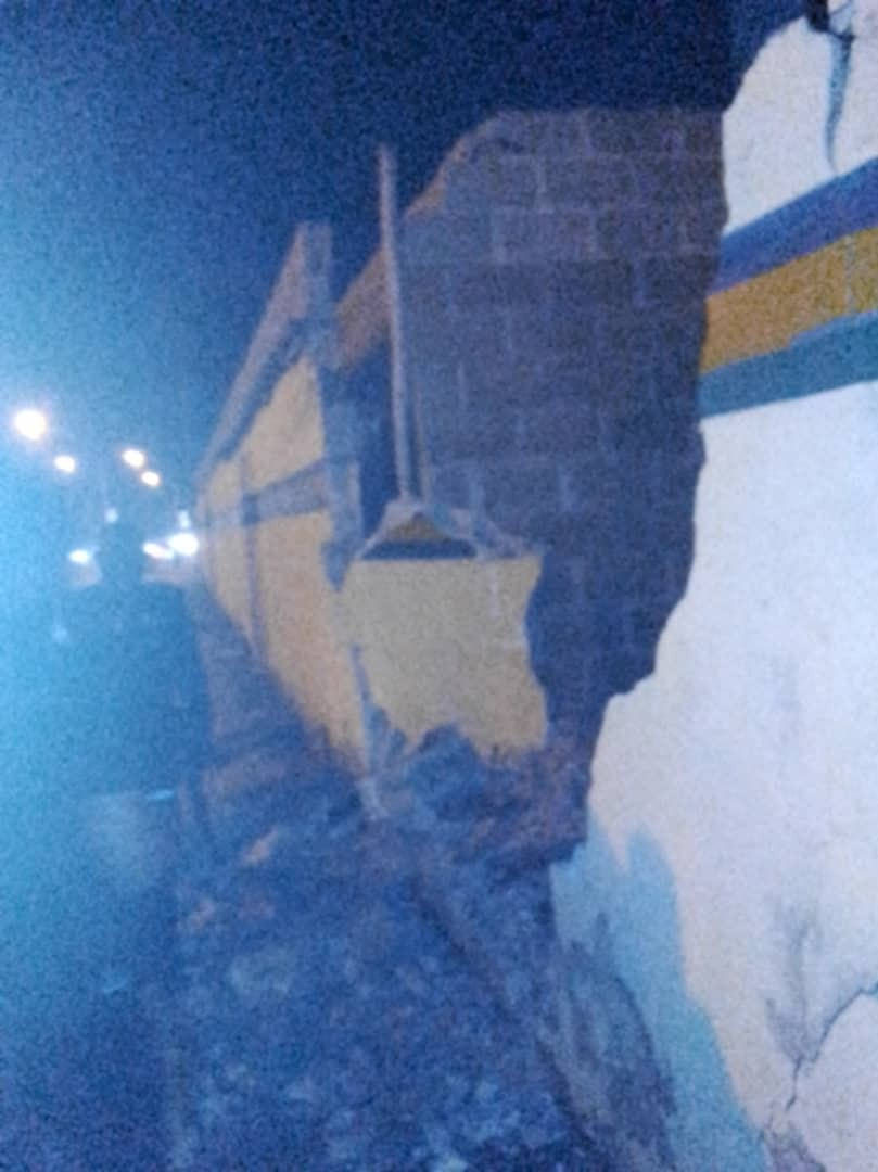 Photos: Tragedy averted as lone bus rams into police college wall in Ikeja