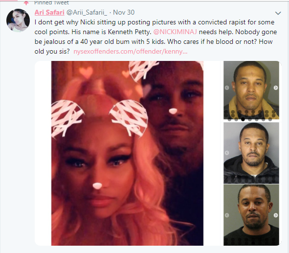 Nicki Minaj is allegedly dating a convicted rapist Kenneth