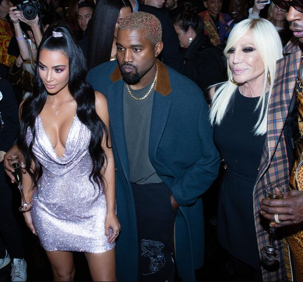 Kim Kardashian and Kanye West steal the show at star-studded Versace show