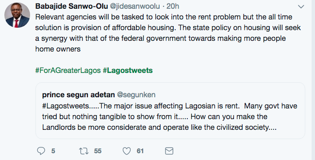 Lagosians are savages; Sanwo-Olu responds to Lagos mean Tweets