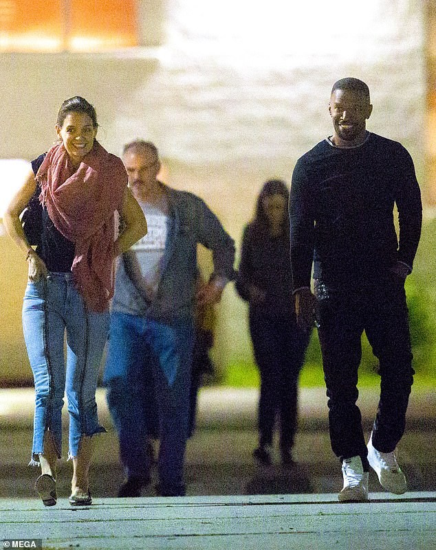 Katie Holmes and Jamie Foxx all smiles as they enjoy romantic date night during rare public outing in New Orleans (Photos)