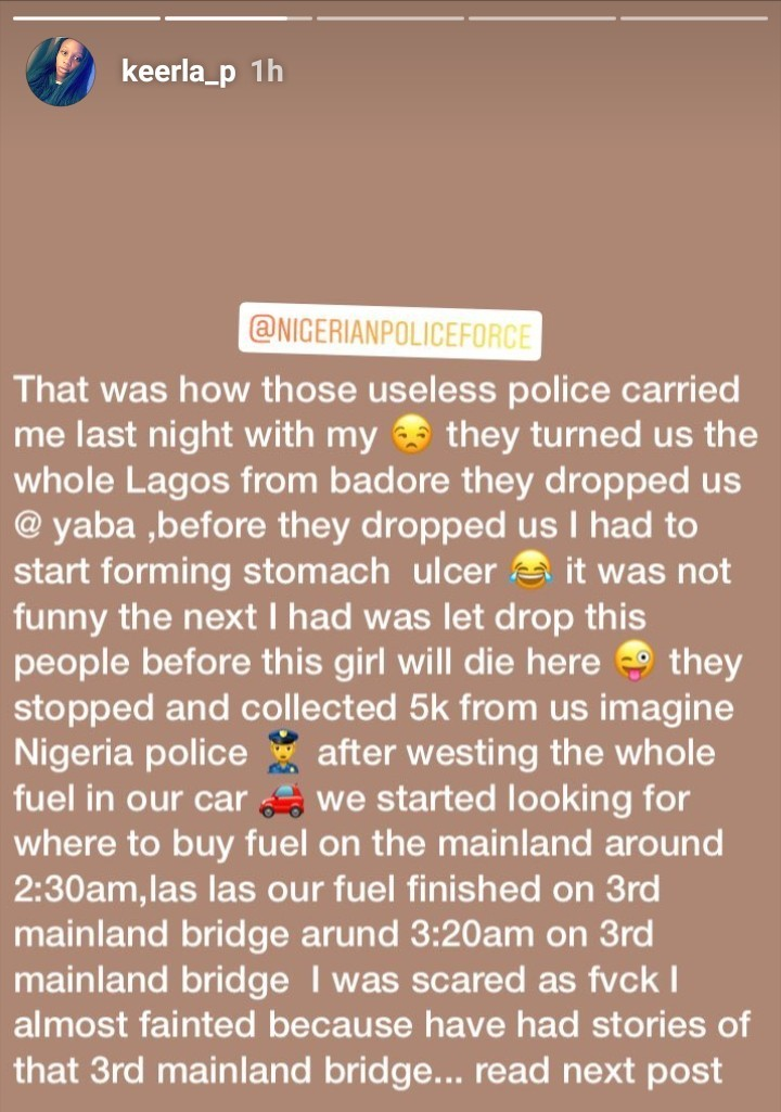 Woman narrates how a kind Uber driver saved her and her boyfriend after they were extorted by Nigeria police and left stranded in the middle of the night