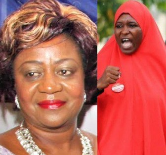 Between Aisha Yesufu and Lauretta Onochie on twitter