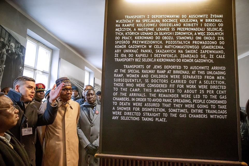 President Buhari visits Auschwitz-Birkenau Memorial and Museum, pays tribute to Holocaust Victims in Poland (Photos)