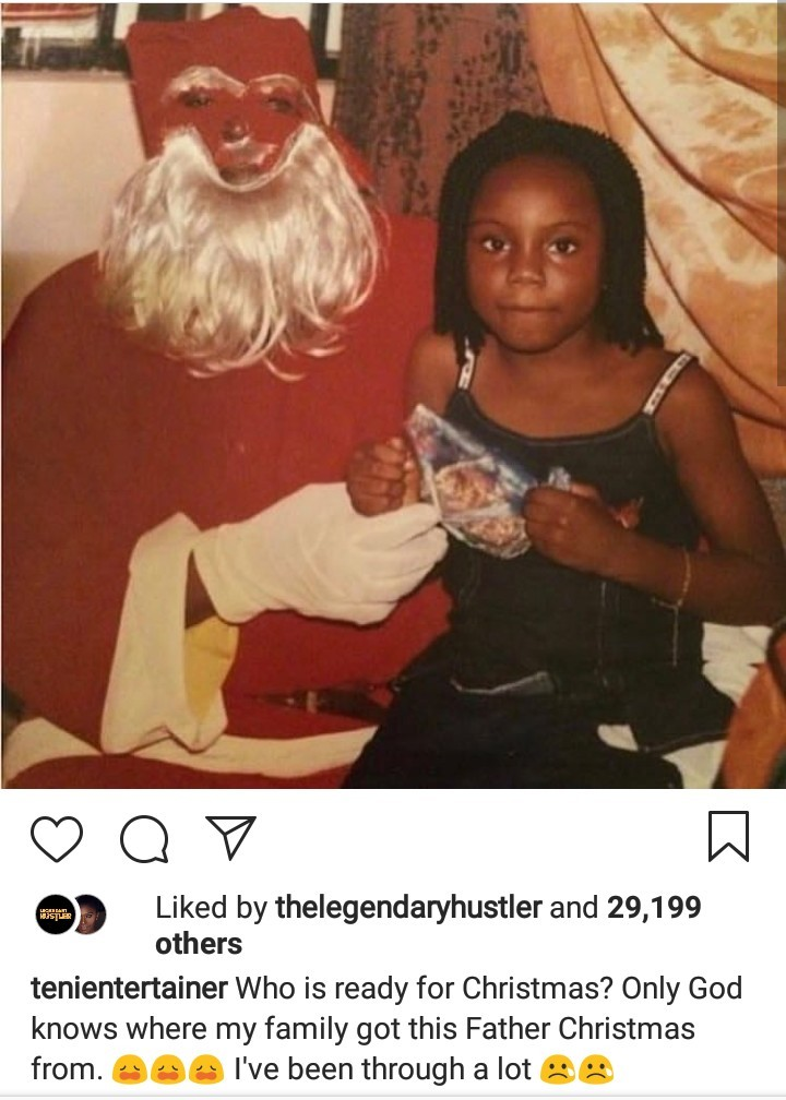 Singer Teni releases photo of a peculiar Santa Claus she visited when she was just a girl