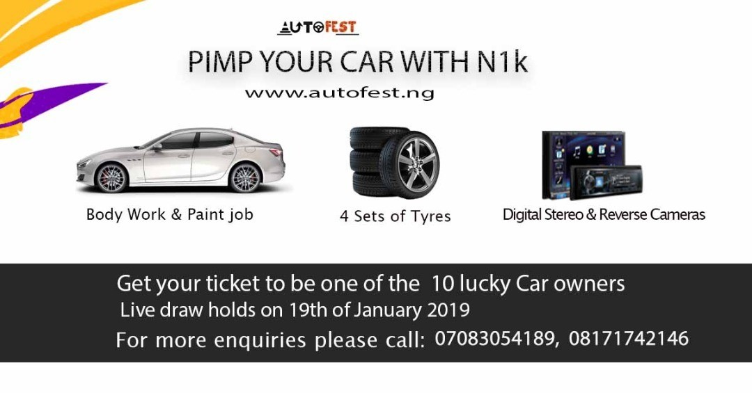 Pimp your car with N1K...  Stand a chance to be one of the 10 lucky car owners in the Autofest raffle draw