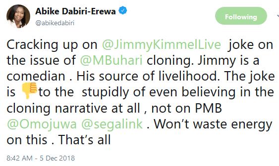 Abike Dabiri Arewa reacts to US TV host, Jimmy Kimmel