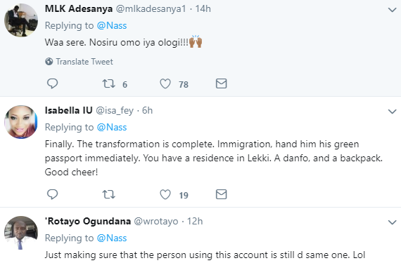 Nigerians go crazy as Arab guy whose account Nigerians mistake for NASS tweets in pidgin