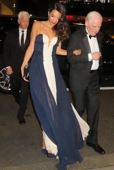 Goerge Clooney, Amal Clooney, and George