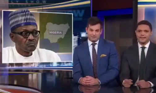 Jubril: Trevor Noah and Daily Show correspondent mock President Buhari on the show