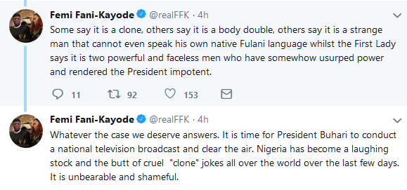 FFK reacts to Aisha buhari
