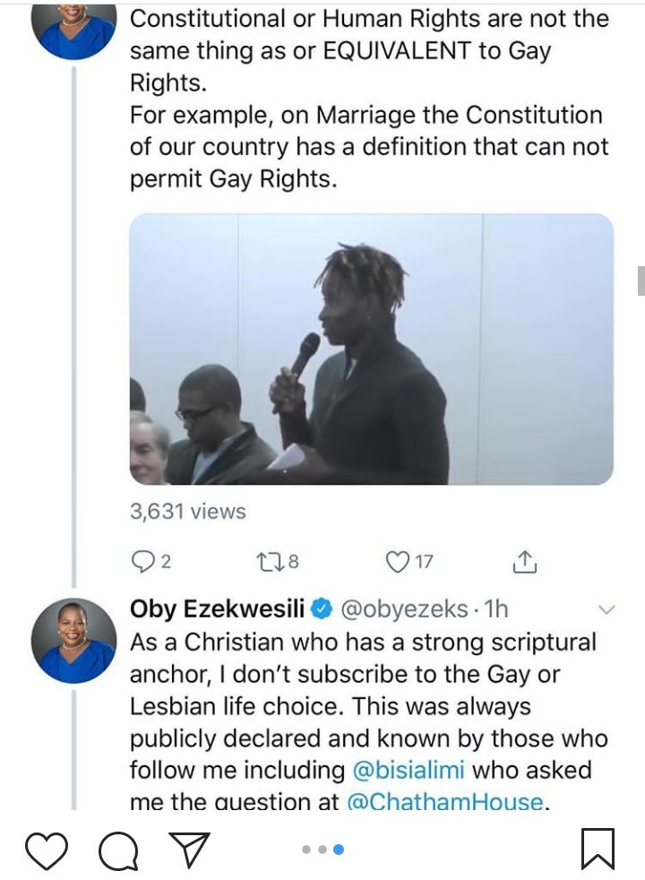 """""""You cannot use your religion to rule a secular state"""" Bisi Alimi criticizes Oby Ezekwesili for saying she doesn"""