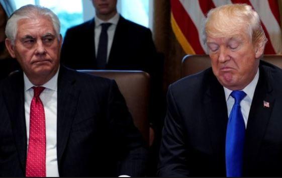 President Trump describes former secretary of state, Rex Tillerson as