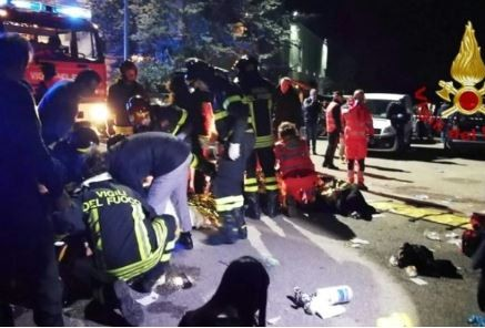 Six people die during�stampede at a rap concert in an Italian nightclub