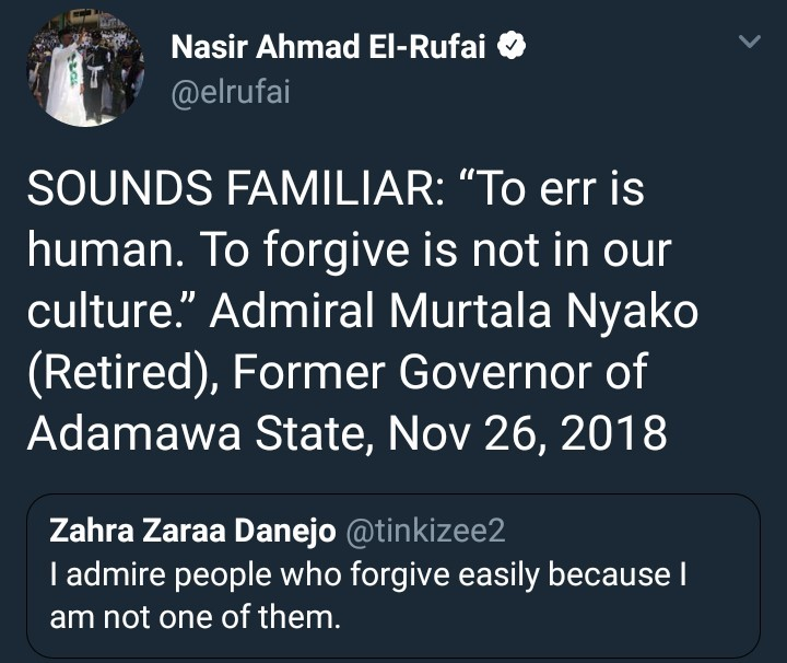 What does El Rufai mean by this tweet?