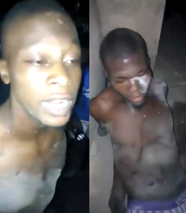Shocking moment killers were nabbed with body of a woman they had just murdered for rituals after meeting her on Facebook (graphic video)