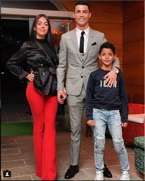 Lovely new photo of Cristiano Ronaldo, his girlfiend and son as they stepped out for a dinner date