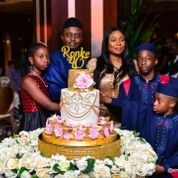 Champagne gold and roses as Victor Ayemere celebrates his wife