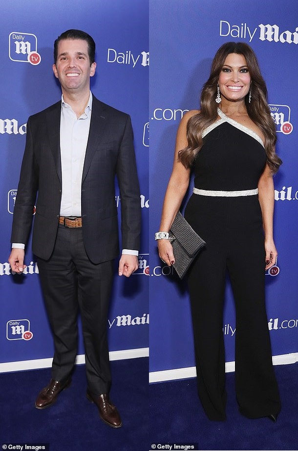 Donald Trump Jr and new girlfriend ?Kimberly Guilfoyle walk the blue carpet at Daily Mail event in New York City (Photos)