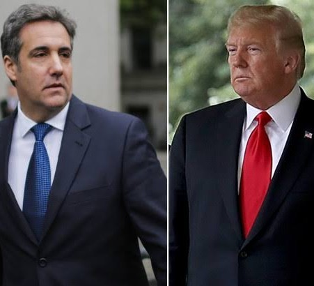 Donald Trump denies directing Micheal Cohen to break the law when he was his lawyer