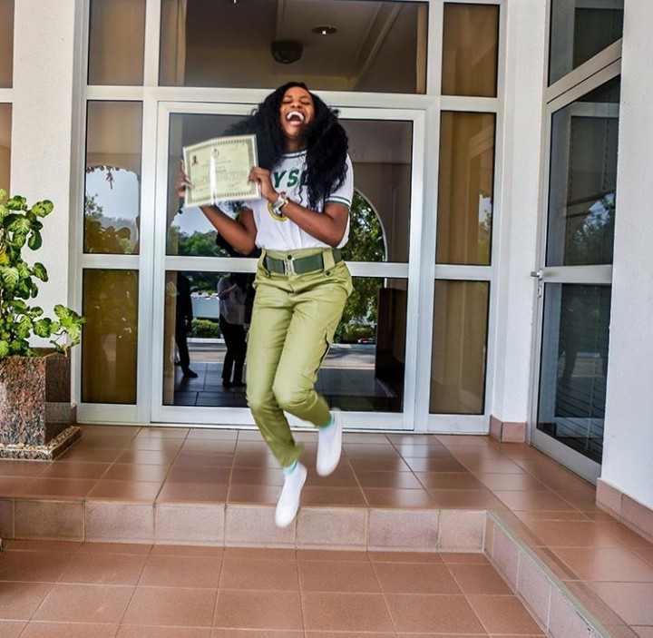 Kiki Osinbajo rejoices as she and her cousin Laolu complete NYSC (photos)