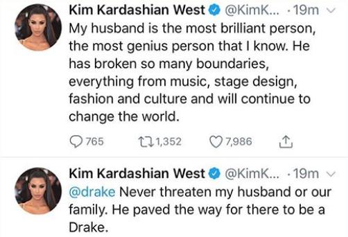 Kim Kardashian comes to her husband