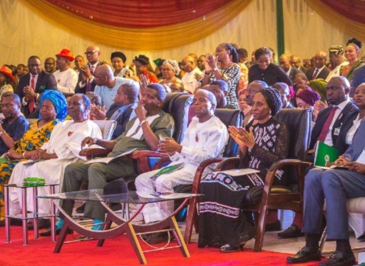 VP Yemi Osinbajo, Yakubu Gowon, Pastor Adeboye attend?presidential Christmas Carol at the State House (Photos)