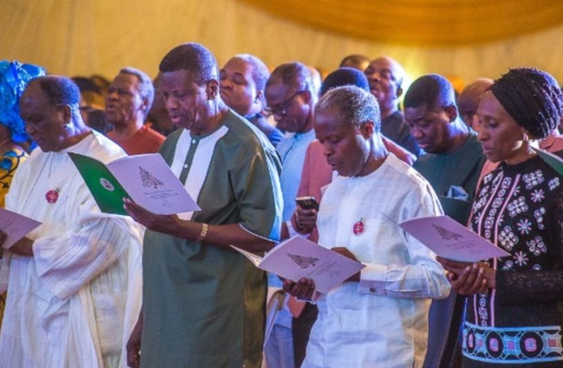 VP Yemi Osinbajo, Yakubu Gowon, Pastor Adeboye attend presidential Christmas Carol at the State House (Photos)