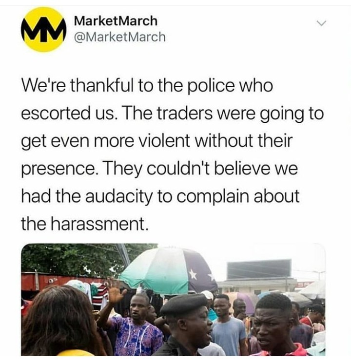 Social media users react to the Yaba Market March