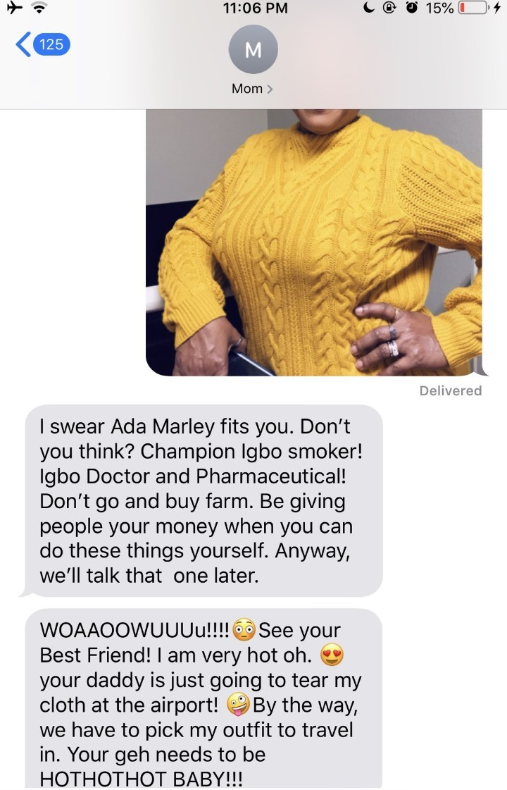 Twitter user shares screenshots of her chat with her mother and it
