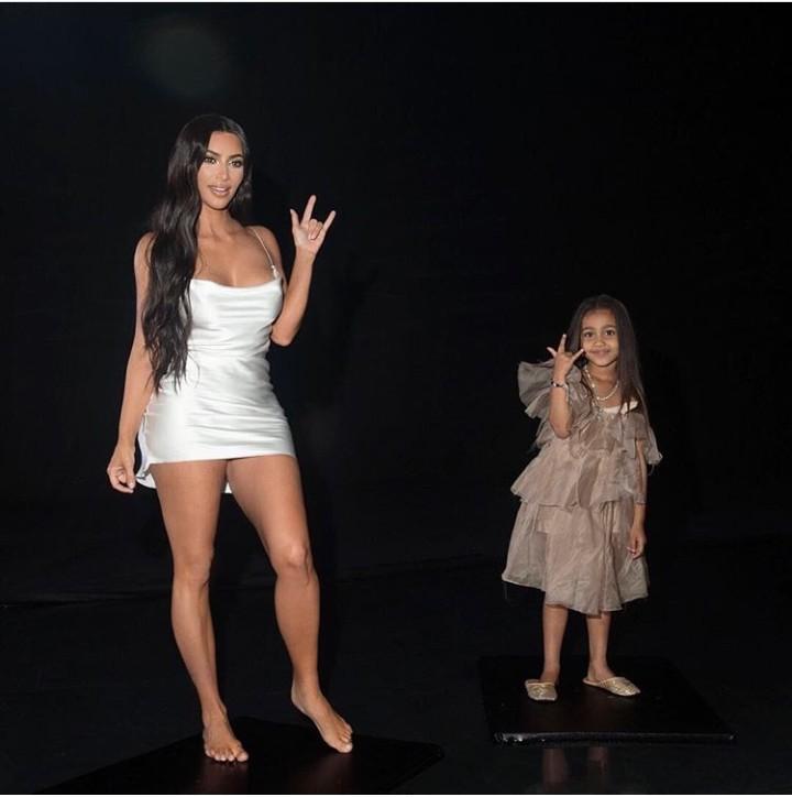 Kim Kardashian and daughter North West goof around during a photo shoot (photos)
