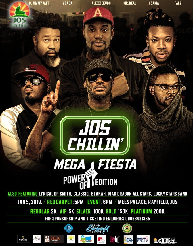 2Baba, DJ Jimmy Jatt, & Falz confirmed for Jos Chillin